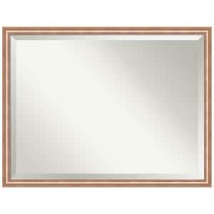 Harmony 32.62 in. x 42.62 in. Modern Rectangle Framed Rose Gold Bathroom Vanity Wall Mirror