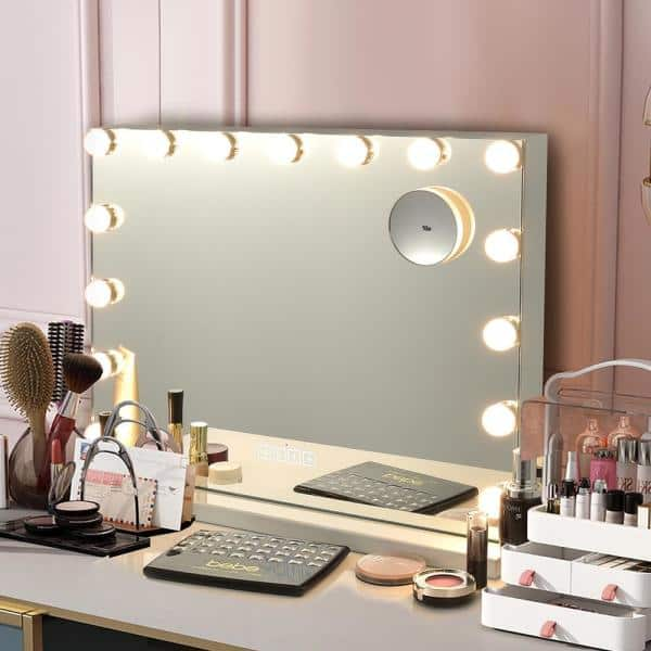 Costway Wall 23 In W X 20 H, Home Depot Makeup Vanity Mirror With Lights