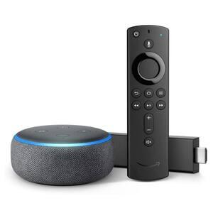 Echo Dot Gen 3 Plus Fire TV Stick 4K in Black