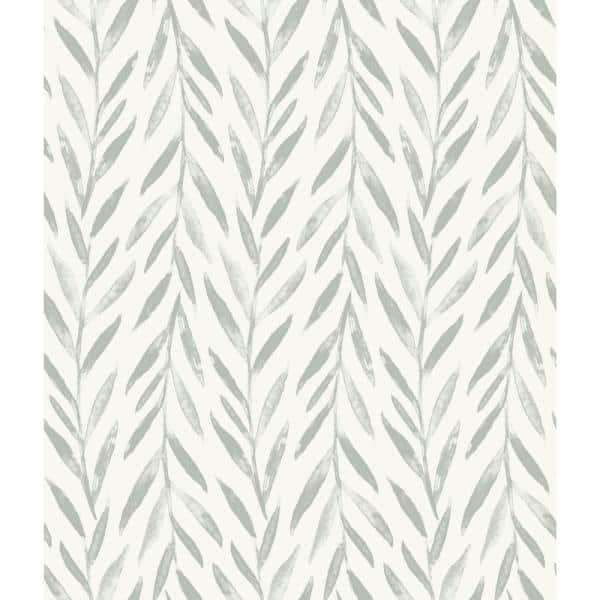 Magnolia Home By Joanna Gaines Willow Grey Premium Peel And Stick Wallpaper Roll Covers 34 Sq Ft Psw1018rl The Home Depot