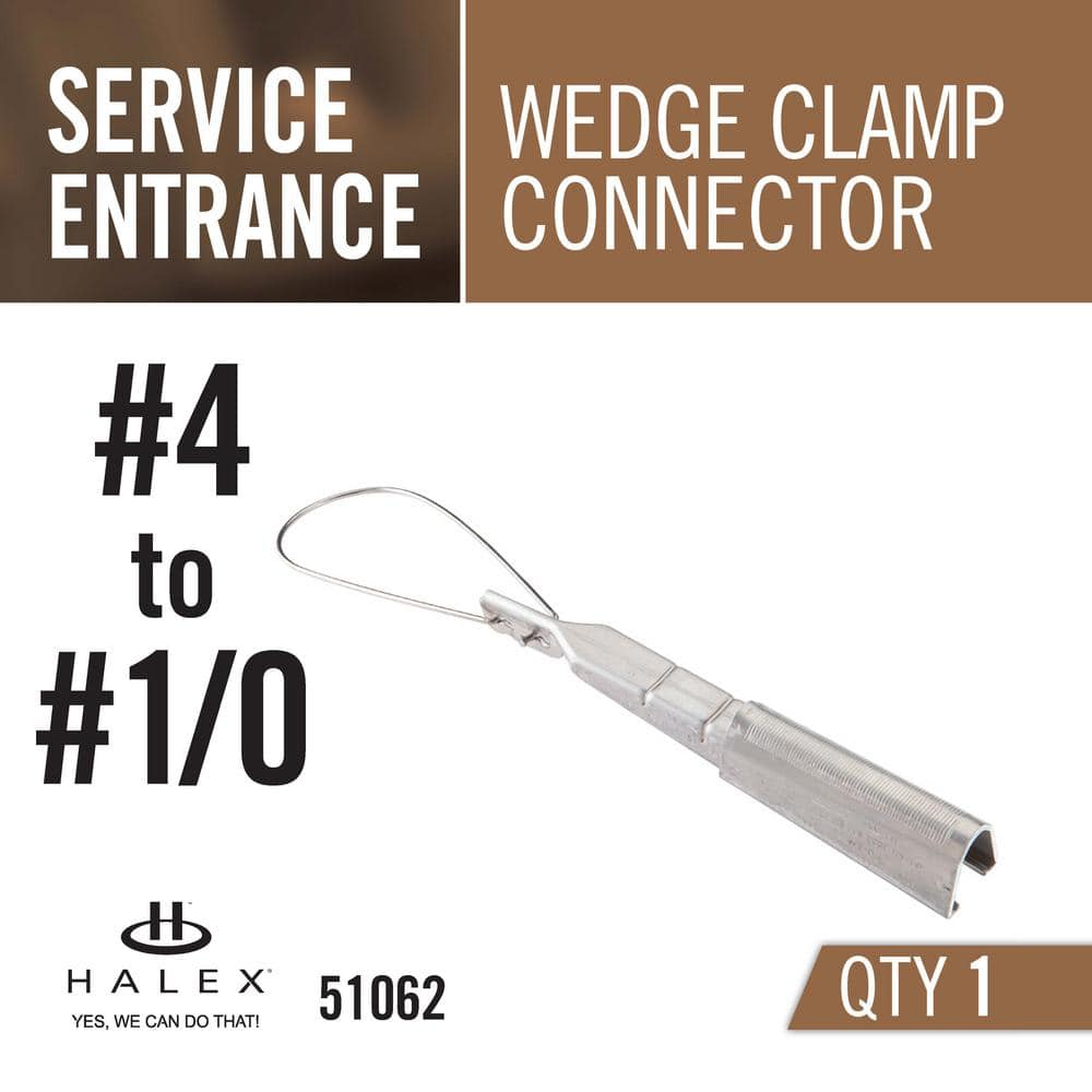 Halex 4 1 0 Service Entrance Se Wedge Clamp Connector 51062 The Home Depot