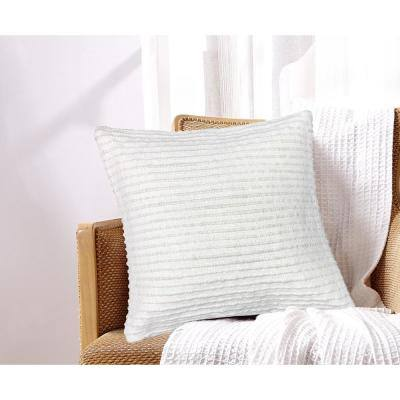 Martha White 18 in. x 18 in. Cotton Decorative Pillow