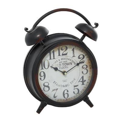 Round Litton Lane Wall Clocks Clocks The Home Depot