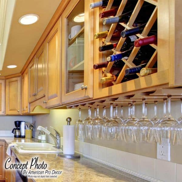 American Pro Decor 14 Bottle Trimmable Wine Rack Lattice Panel Inserts In Unfinished Solid North American Red Oak 5apd10640 The Home Depot