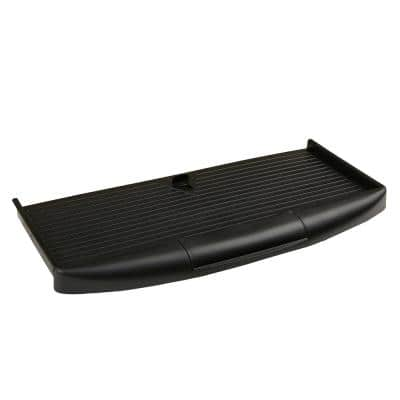 Under Desk Keyboard Holder with Closable Writing Utensil Compartment, Black