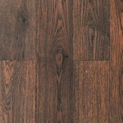 Timber Wolf Hickory Wide/Long 7.5 in W x Varying Length Engineered Click Waterproof Hardwood Flooring (22.46 sq.ft/case)