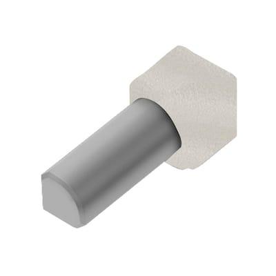 Rondec Ivory 1/4 in. x 1 in. Color-Coated Aluminum Tile Edging Trim 90-Degree Inside Corner