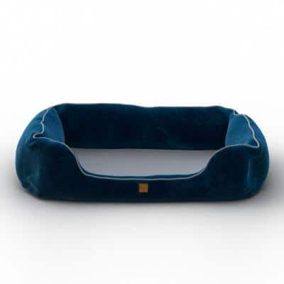 Heavenly Orthopedic Medium Blue Breathable Dog Lounge Bed Cushion