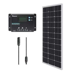 12-Volt 100-Watt Monocrystalline Bundle Kit Solar Panel with Wanderer 10 Amp Charge Controller