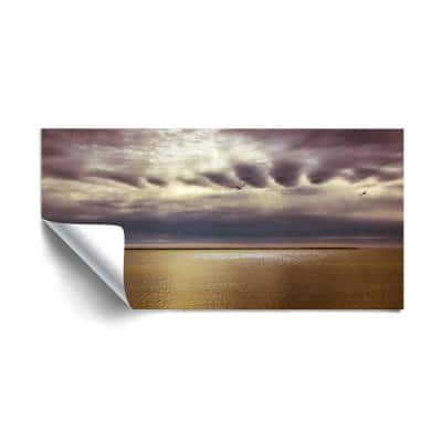 """""""To face this day"""" Beach and Nautical Removable Wall Mural"""