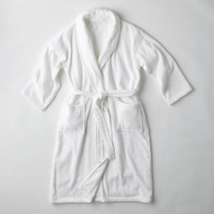 Men's XXL White Turkish Cotton Long Robe
