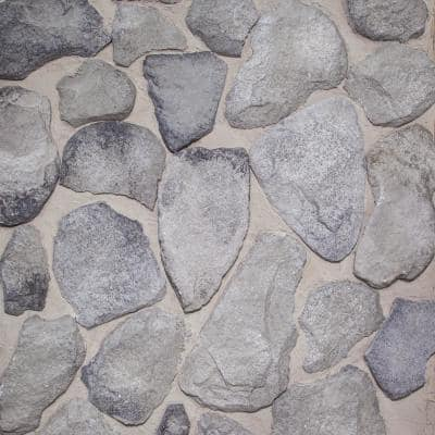 1/2 in. x 5 sq ft. CONCRETE ASSORTED SHADES OF GRAY THIN BRICK STONE VENEER