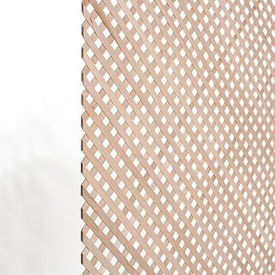 23-5/8 in. x 47-1/4 in. x 1/8 in. Unfinished Diagonal Solid North American Hard Maple Mini Lattice Panel Insert