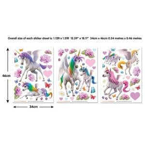 Multi Color Magical Unicorn Sticker Wall Decals