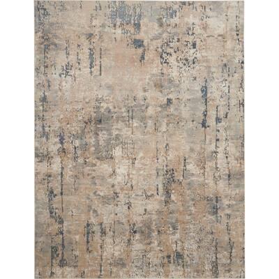 Concerto Beige/Grey 9 ft. x 12 ft. Distressed Rustic Area Rug