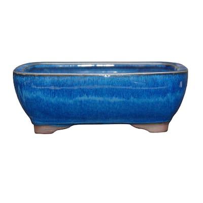 Small Blue Rectangle Pot