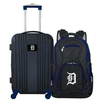 MLB Detroit Tigers 2-Piece Set Luggage and Backpack