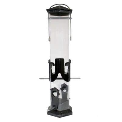 Pewter Deluxe Sunflower Twist and Clean Feeder