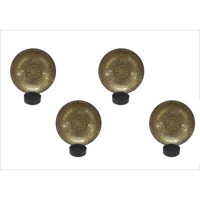 Gold Metal Wall Sconce (Set of 4)