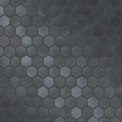 Gunmetal Vinyl Peel & Stick Moisture Resistant Wallpaper Roll (Covers 56 Sq. Ft.)