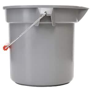 Brute 14 Qt. Grey Round Bucket