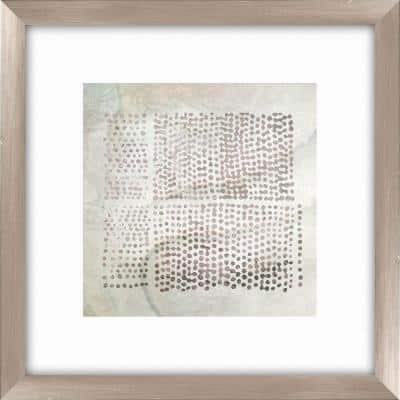 """20-1/2 in. x 20-1/2 in. """"Tribal Etched Lines B"""" Framed Wall Art"""