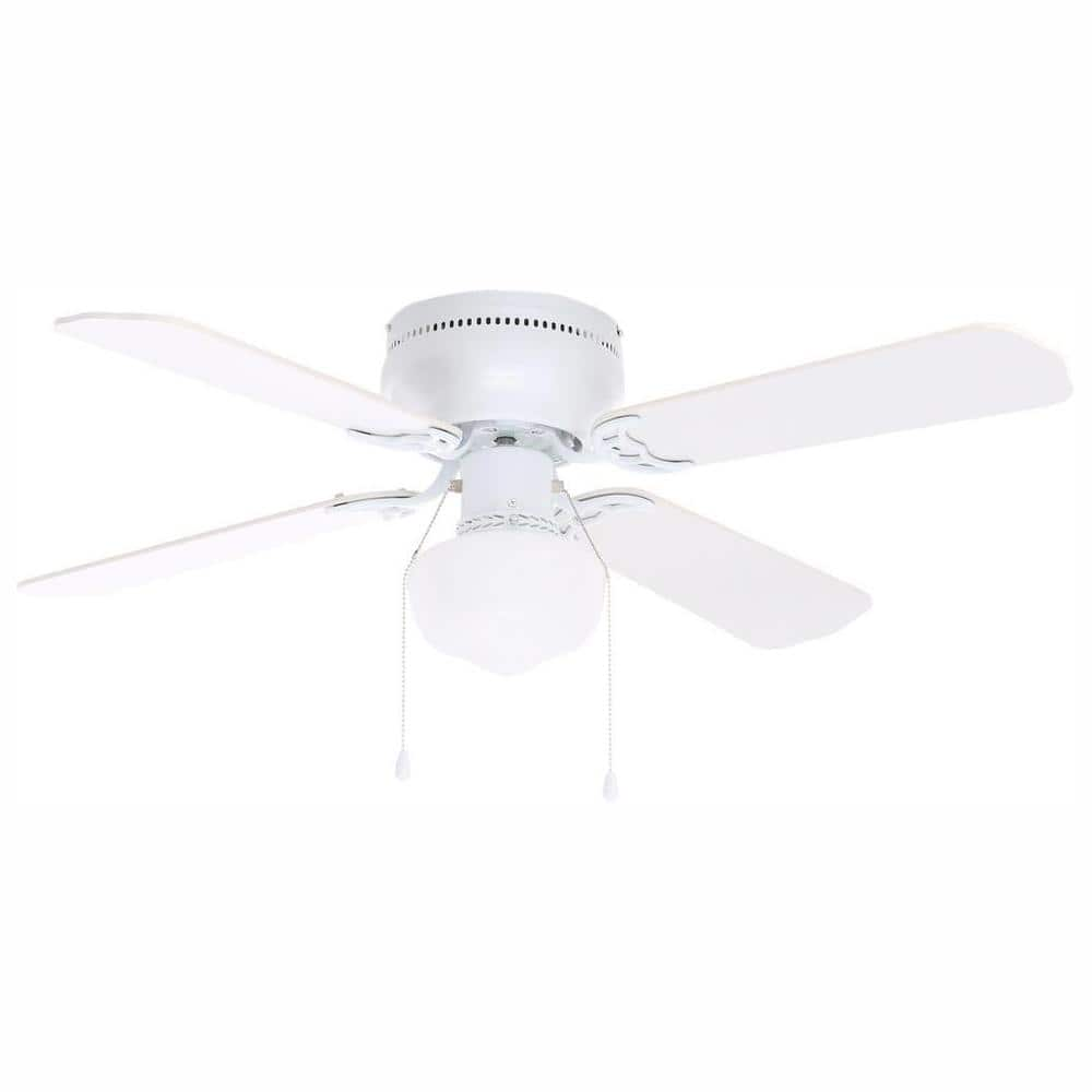 Littleton 42 In Led Indoor White Ceiling Fan With Light Kit Ub42s Wh Sh The Home Depot