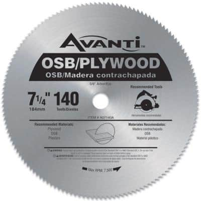 7-1/4 in. x 140-Teeth OSB/Plywood Saw Blade