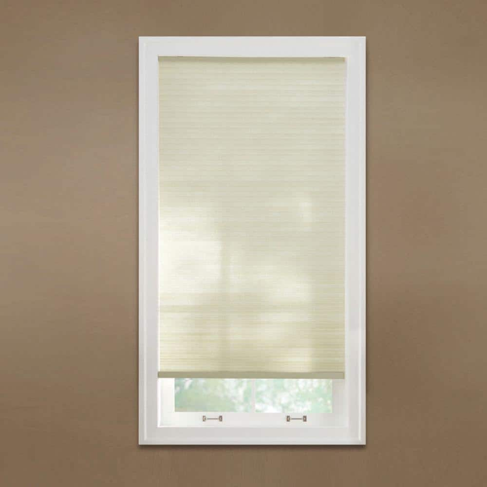 Home Decorators Collection Parchment Cordless Light Filtering Cellular Shade 22 875 In W X 48 In L 10793478780389 The Home Depot
