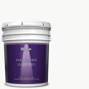 Behr Marquee 5 Gal Ultra Pure White Eggshell Enamel Interior Paint Primer 245005 The Home Depot