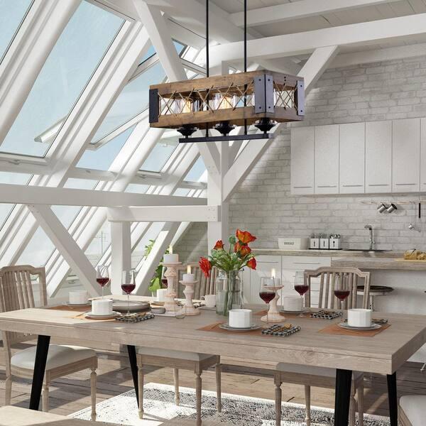Lnc 3 Light 24 In Modern Farmhouse, Modern Farmhouse Chandeliers For Dining Room