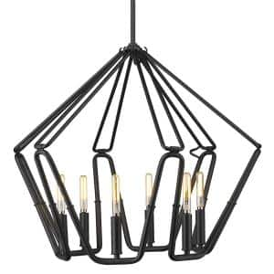 Corbin 6-Light Natural Black Center Bowl Pendant