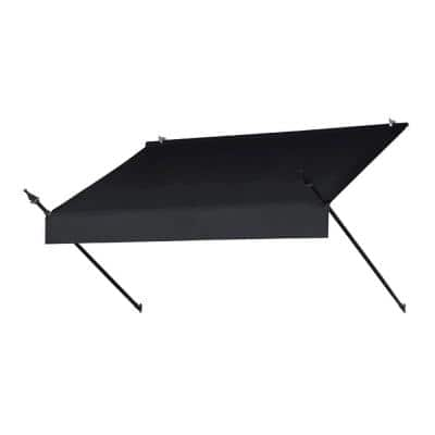 6 ft. Designer Manually Retractable Awning (36.5 in. Projection) in Ebony
