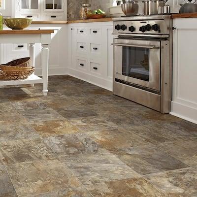Fowler Tile Stone Residential Vinyl Sheet Flooring 13.2ft. Wide x Cut to Length
