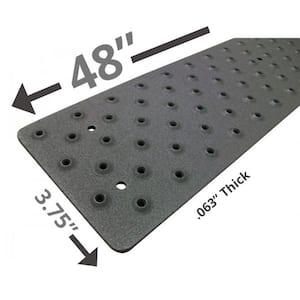 3.75 in. x 48 in. Non-Slip Aluminum Tread, Black