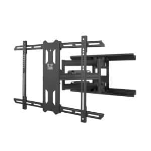 Full Motion TV Wall Mount with 22 in. Extension from Wall for 37 in. - 75 in. TVs, UL Certified in Black