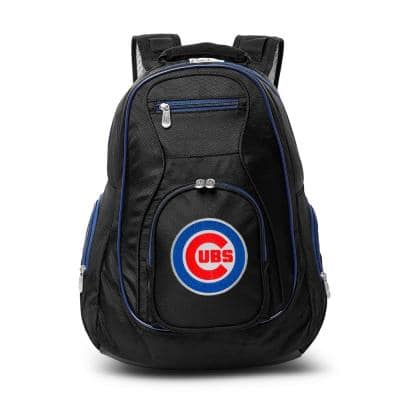 MLB Chicago Cubs 19 in. Black Trim Color Laptop Backpack