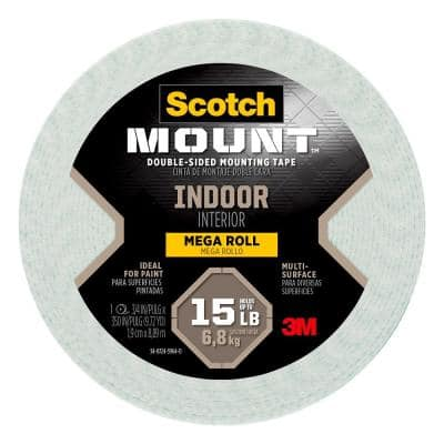 Scotch 0.75 in. x 9.72 yds. Permanent Double Sided Indoor Mounting Tape (Case of 8)