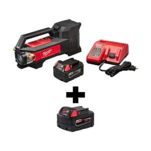 M18 18-Volt Lithium-Ion Cordless 1/4 HP Transfer Pump Kit W/ Free 5.0Ah Battery Pack