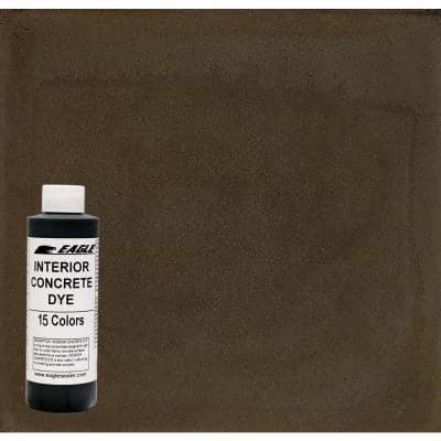 1 gal. Maple Syrup Interior Concrete Dye Stain Makes with Water from 8 oz. Concentrate