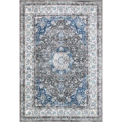 Verona Vintage Persian Dark Gray 3 ft. x 8 ft. Runner Rug