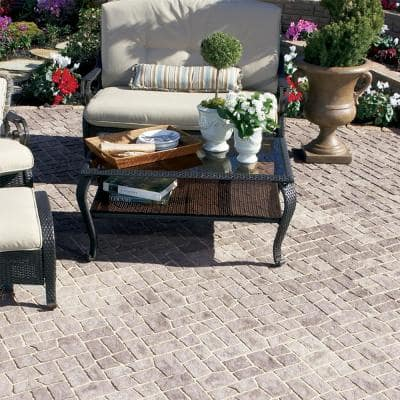 12 in. L x 6 in. W x 2 in. H Charcoal/Tan Cobble Concrete Paver (288-Piece/144 sq. ft./Pallet)