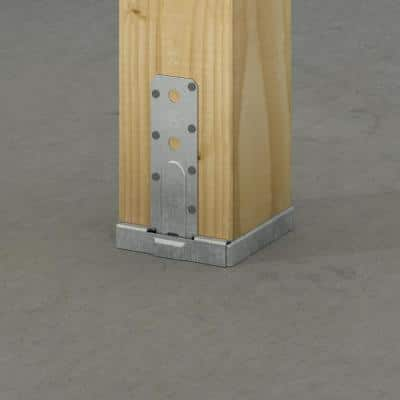 PBS Galvanized Standoff Post Base for 6x6 Nominal Lumber