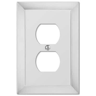 Studio 1 Gang Duplex Metal Wall Plate - Polished Chrome