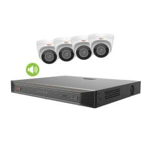 Ultra HD Commercial Grade Audio Capable 8-Channel 2TB NVR Surveillance System with 4 4K Cameras