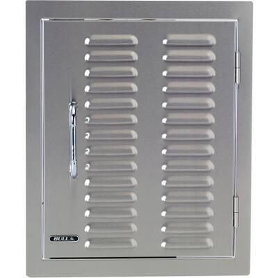 17.87 in. x 22 in. x 1.87 in. Built-in Vertical Single Storage Door Vented Louvered Design