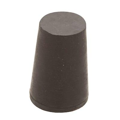 1 in. x 25/32 in. Black Rubber Stopper