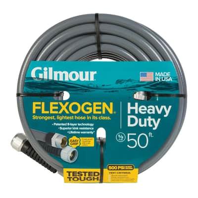 5/8 in. Dia x 50 ft. Gray Flexogen Heavy Duty Garden Water Hose
