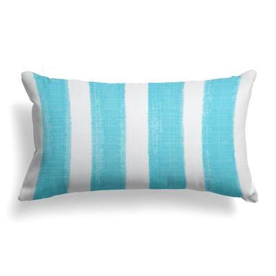 Caravan Aqua Rectangular Lumbar Outdoor Pillow