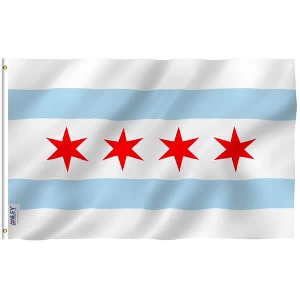 Anley Fly Breeze 3 Ft X 5 Ft Polyester City Of Chicago Flags 2 Sided Flag Banner With Brass Grommets And Canvas Header A Flag Cityofchicago The Home Depot